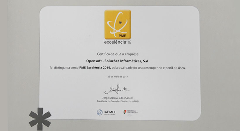 PME Excelência atribuído à Opensoft